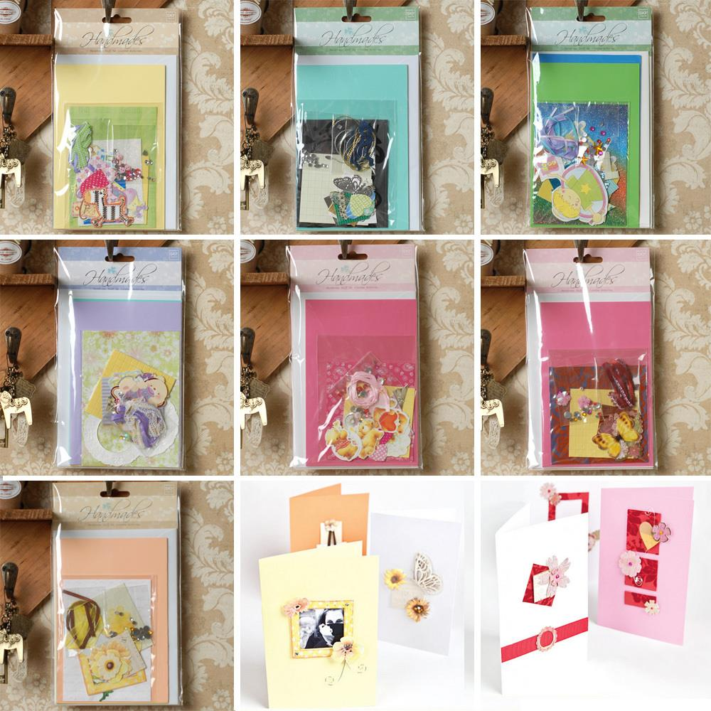 Buy 2 sets of diy creative kids greeting card making material kit for girls - Carte de noel a fabriquer maternelle ...