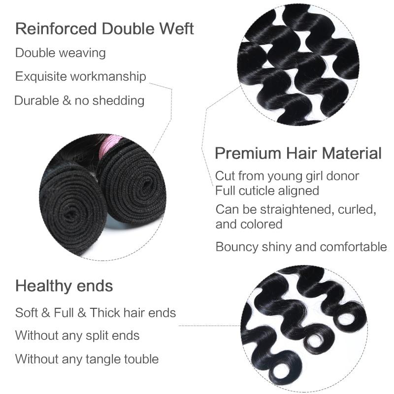 Peruvian Hair Body Wave Bundles 8-44 28/30/32/40 Inch Human Hair 3/4 Bundles 100% Human Remy natural Color Hair Extension weaves
