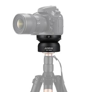 Image 2 - Andoer DY 60A Aluminium Statief Leveling Base Panorama Fotografie Balhoofd Voor Canon Nikon Sony Dslr Camera