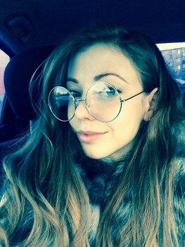 2017 New Classic Vintage Glasses Frame Round Lens Flat Myopia Optical Mirror Simple Metal Women/Men Glasses Frame