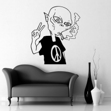 Lovely Alien Wall Stickers Animal Lover Home Decoration Accessories for Living Room Decal Creative