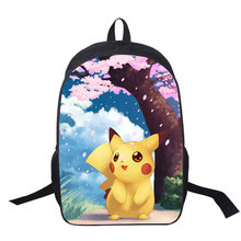 Pikachu Doraemon Chinchilla Anime Funny Girls Boys Printing Backpack Customize The Image Shoulder Schoolbag For Teenager Mochila