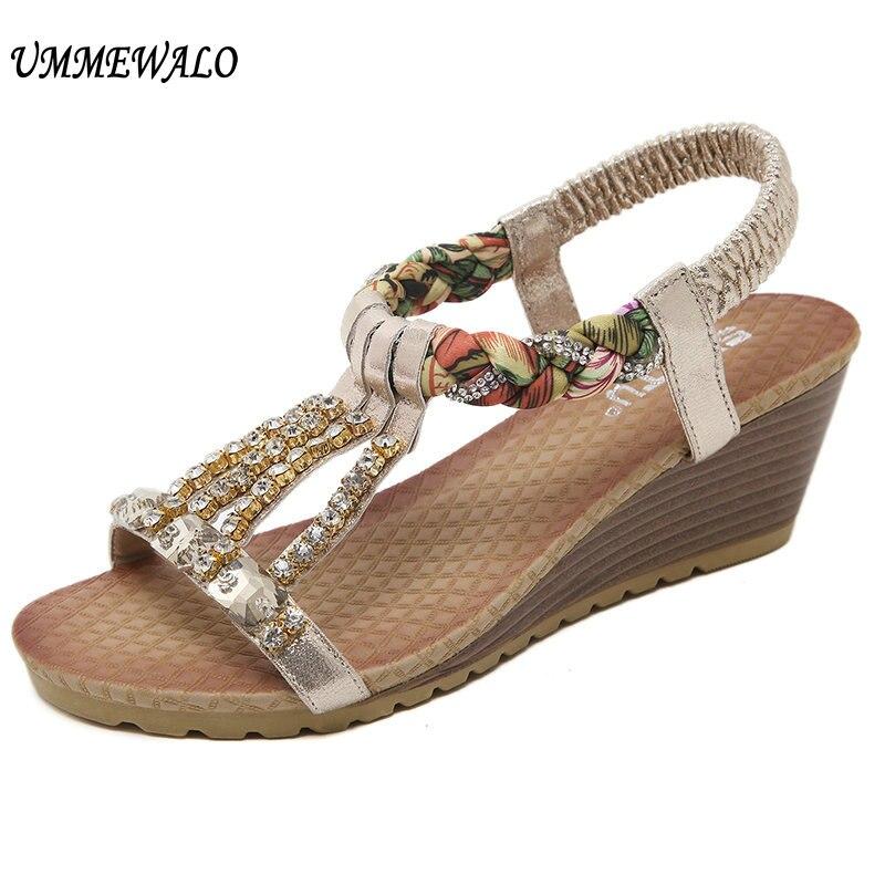 f72033da7041 UMMEWALO Shoes Women Summer Sandals Woman Designer Wedges Gladiator Sandals  Ladies Shoes Zapatos Mujer