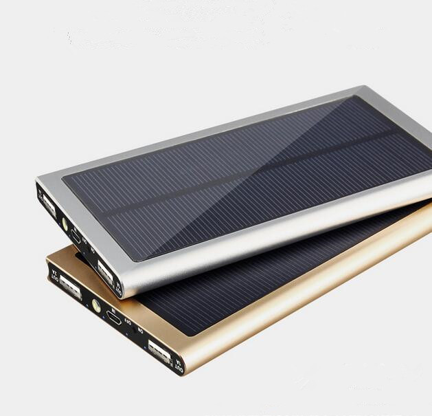 Gran capacidad 50000 mah powerbank banco de la energía solar portátil cargador usb 18650 celular para iphone ipad samsung