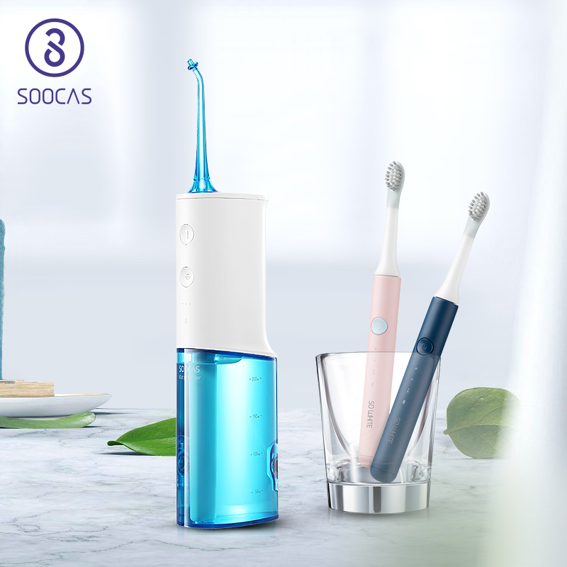 SOOCAS Dental Water Flosser xiaomi Electric Portable Oral Irrigator Waterproof water jet flosser Rechargeable Tooth Mouth