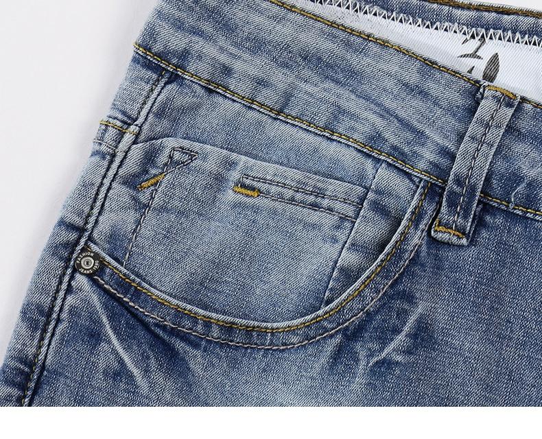 2020 Jeans Men Fashion Business Casual Straight Slim Fit Ultrathin Breathable Stretch Retro Blue Summer Denim Pants Plus Size 40 15