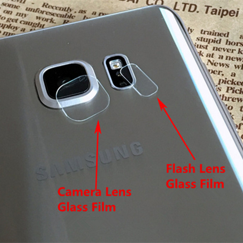 50x Rear Camera Lens+50x Flash Flexible Tempered Glass For Samsung Galaxy S6 S7 Edge Ultra Thin Fiber Screen protector Film