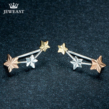 18k Yellow/White/Rose Gold Stud Earrings 1