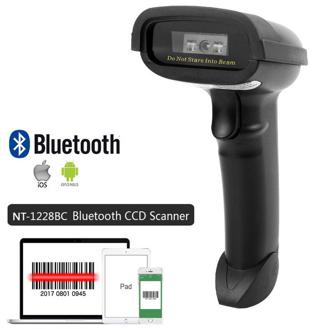 NETUM NT-1698W Handheld Wirelress Barcode Scanner AND NT-1228BL Bluetooth 1D/2D QR Bar Code Reader PDF417 for IOS Android IPAD 2