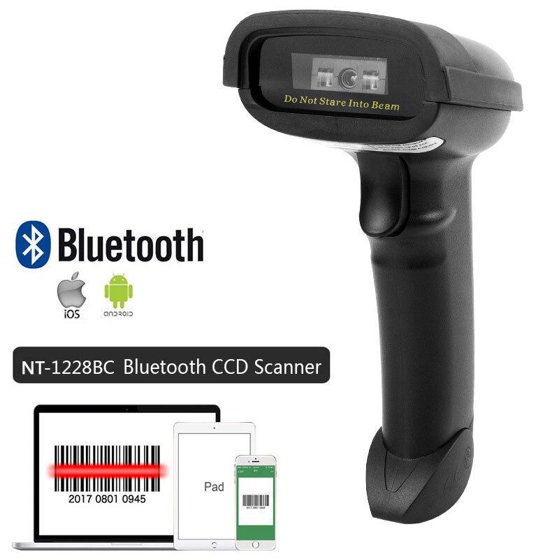 Escáner de código de barras de Wirelress de mano NT-1698W y lector de código de barras NT-1228BL Bluetooth 1D/2D QR PDF417 para IOS Android IPAD NETUM