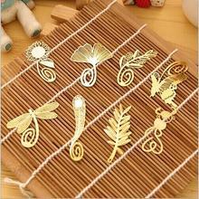 Statioenry скрепки-закладки мини-милый стрекоза закладки позолоченный бабочка античная металлические каваи корейский
