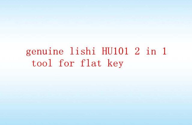 imágenes para Accesorios del Coche Para Bloquear Genuina Lishi Hu101 2 En 1 Herramienta De Llave Plana Envío Libre