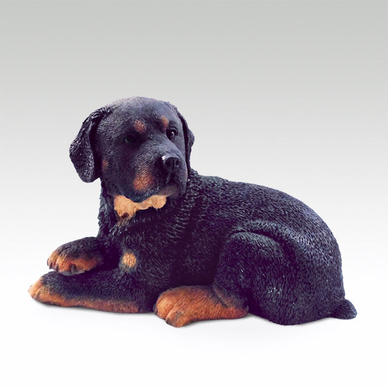 Résine MINI angleterre Rottweiler chien peint à la main modèle Statue de simulation