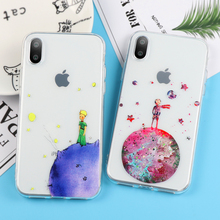 coque iphone 8 cartoon moon space stars voie lactée