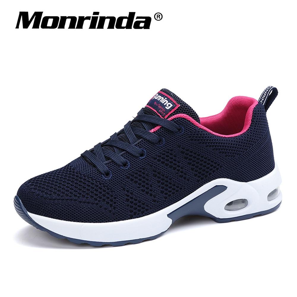 Nuevas zapatillas de deporte de malla transpirable para mujer, Zapatos deportivos de amortiguación para mujer, Zapatos deportivos para caminar al aire libre para mujer, 8,5