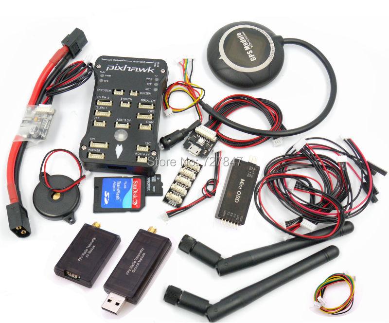 Pixpilot Pixhawk v2.4.7 (v2.4.6) open-hardware Autopilot Flight Controller +I2C+RGB+ Neo M8N GPS +Minim OSD+PM +433 Telemetry hot shipping free cuav minim osd suporte