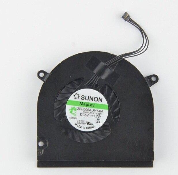 """Novo Ventilador CPU para Apple 13 """"macbook 2008 a1278 macbook pro 2009 2010 2011 2012 laptop ventilador de refrigeração p/n zb0506auv1-6a"""