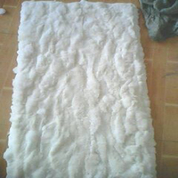 Real Larger Natural Rabbit Skin Fur Blanket Rabbit Fur Rug Bed Decorative Blankets Rugs and Carpets For Living Room Christmas