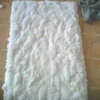 Real Natural Rabbit Fur Carpet Bedroom Decor Rabbit Fur Rug Bed Decorative Blankets Rugs and Carpets For Living Room Christmas