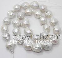 Gioielli 006 vendita 11mm * 14mm bianco naturale perle keshi sciolto perline 16