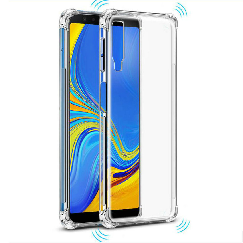 50pcs lot For Samsung Galaxy A6 Plus 2018 Soft Thick Plain Whole Crystal Shockproof TPU Case