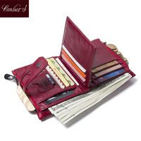 Brand Design Wallet Genuine Cow Leather Japan Style Solid Zipper Hasp Standard Wallets Short Bags With