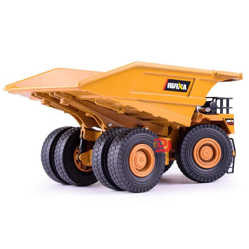 1:40 Anak-anak Emulasional Logam Truk Inersia Mainan Mobil Dump Pertambangan Kendaraan Outdoor Industrial Model Mobil Bermain Hadiah Natal