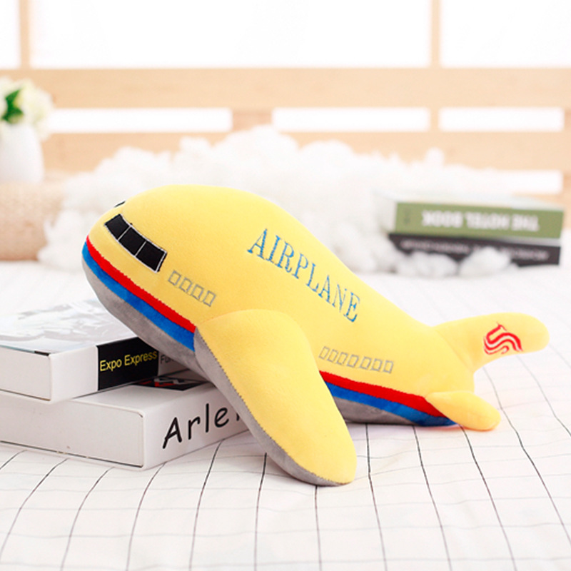 Real Life Plush Simulation Plush Cat Rocket Airplane Toy Stuffed Lifelike Transportation Pillow Creative Boy Home Decor Toys For Children Gift