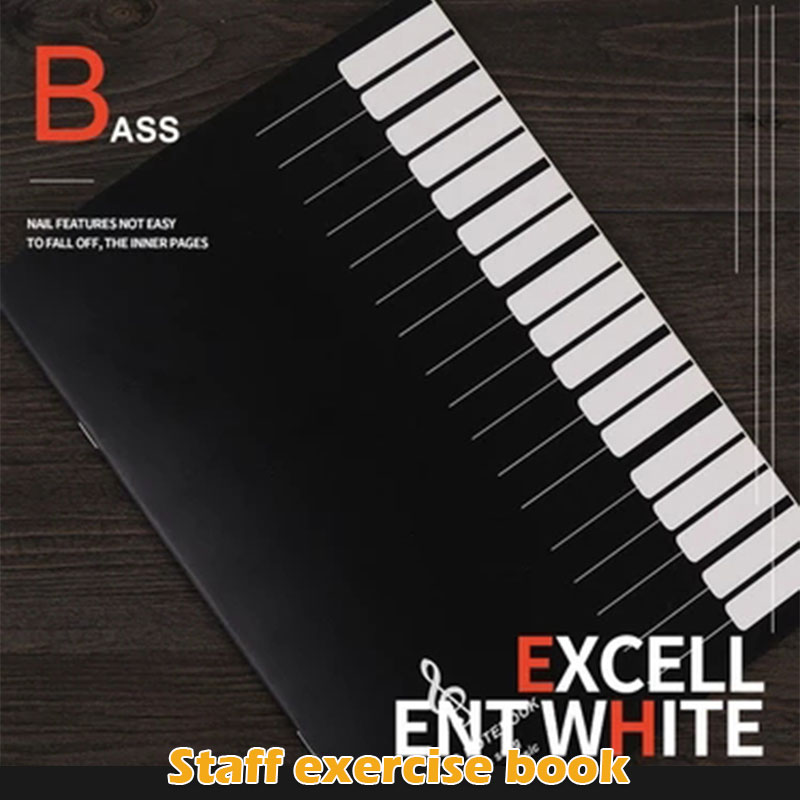 Staff Paper Music Notebook 16 Pages Musical Notepad Office School Students Instrumental Performance Gift Professional Education
