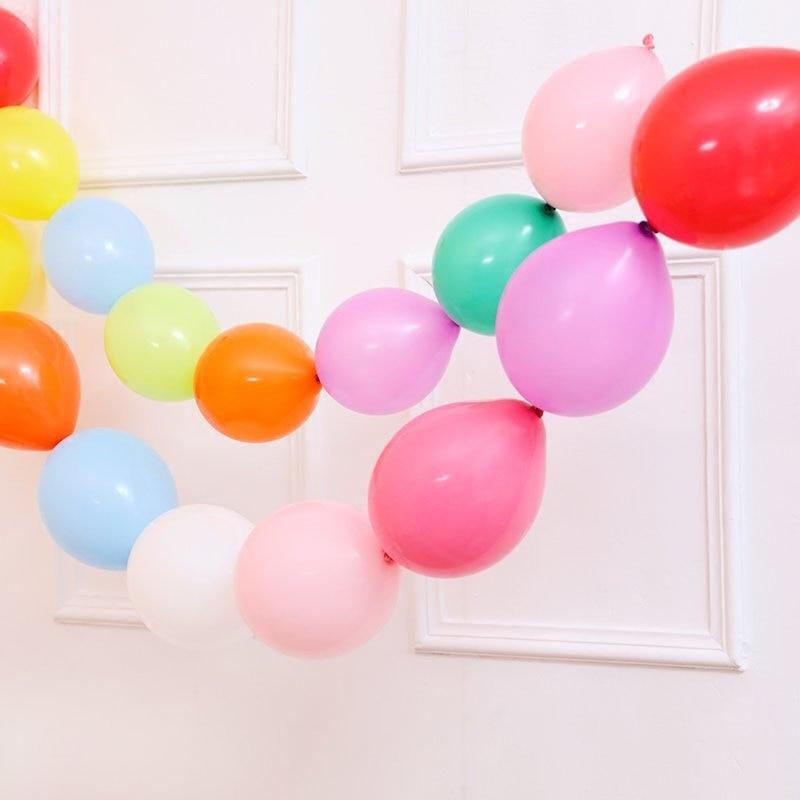 50pcs / lot 10Inch Multicolor Needle Tail Latex Ballonger Grattis på - Semester och fester