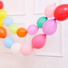 50Pcs / παρτίδα 10 ιντσών Πολύχρωμο βελόνα ουρά μπαλόνια Latex Happy Birthday Party Διακόσμηση Πάχος Link Μπάλες Air Είδη Γάμου