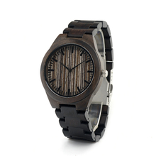 BOBOBIRD Creative Brand Design Ebony Wooden Watch I23 Thin Stripes Dial Wooden Band Watches As Gift