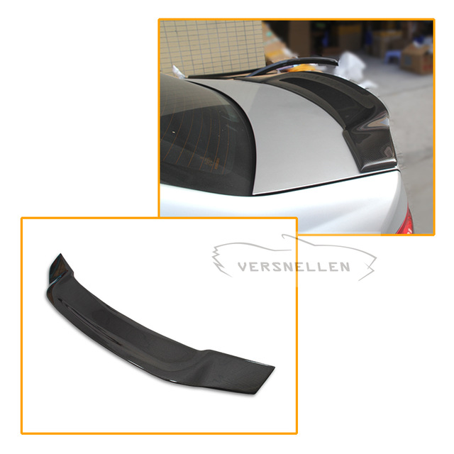 Renntech Trunk Rear Spioler For Mercedes W204 C63 Amg Carbon Fiber Lid Wing 2008 2014 C Class 4 Door Sedan W204 Carbon Spoiler