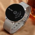 Paidu Reloj de Acero Lleno vestido de Las Mujeres del reloj hora del reloj para hombre de malla de alambre de moda Casual reloj Unisex Del reloj del Cuarzo relogio relojes