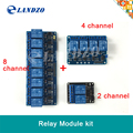 Free shipping 3pcs/lot 2 channel relay modules relay kit control panel PLC 5V &4 channel relay 8 channel