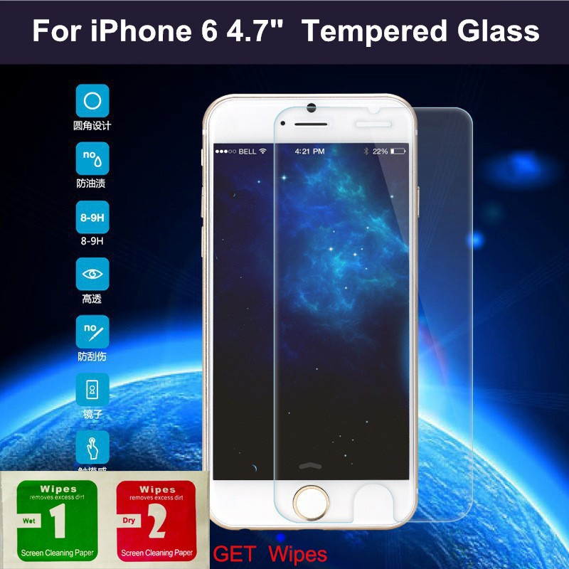 wangcangli 10 piece cell phone screen protector Tempered Glass on the For iPhone6plus Tempered Protective Glass For iphone 5 6 7 in Phone Screen Protectors from Cellphones Telecommunications