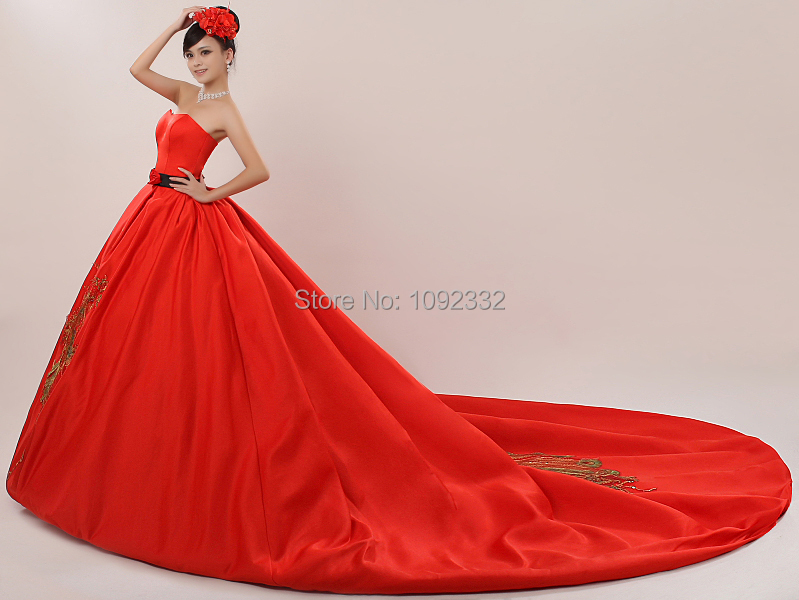 Compare prices on wedding dresses big online shopping buy for Big red wedding dresses