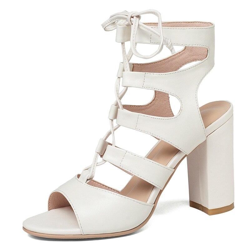7e4fd83cc Sandalias black Partido Facndinll Cuero Tacones White Beige Super Verano  2018 Gladiador Genuino Del De Zapatos Mujer Vestido Alto Boda xqUBXAwq