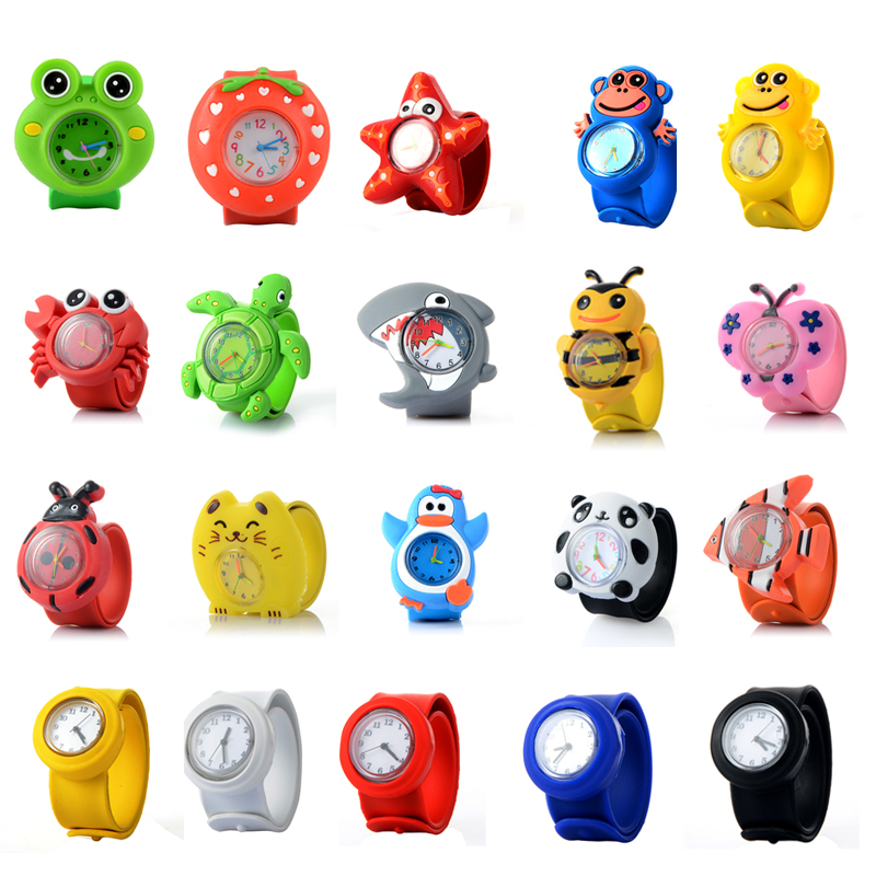 2018 Kids Watch 3D Cartoon Animal Silicen Quartz Wristwatches Sport Children Watches Cute Baby Girl Student Clock Watch Gifts