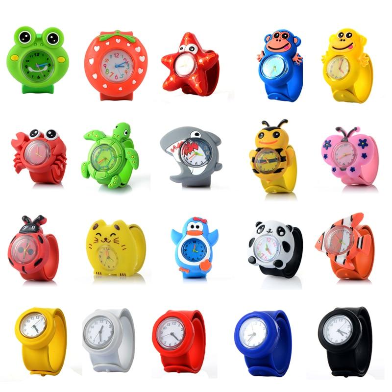 2018 Kids Watch 3D Cartoon Animal Silicen Quartz Wristwatches Sport Children Watches Cute Baby Girl Student Clock Watch Gifts