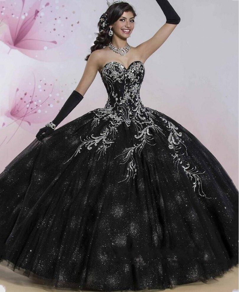 Anti Lujo Tulle Vestidos De Bola Negro Vestidos De