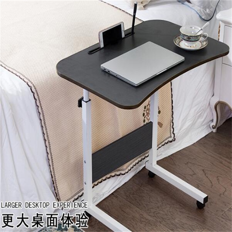70*48CM Height-Adjustable Lazy Bedside Table Fashion Movable Notebook Table Multipurpose Modern Laptop Table Study Learning Desk