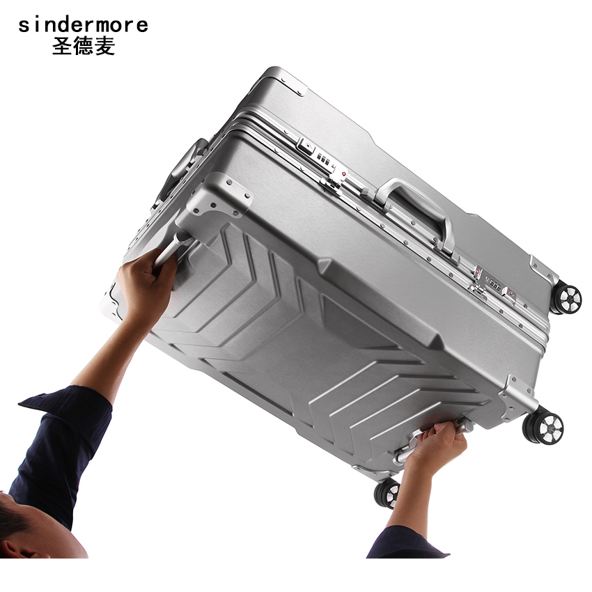 NEW 20 24 29 Aluminum frame PC rolling hardside luggage suitcase travel trolley case cabin suitcases for girls women men