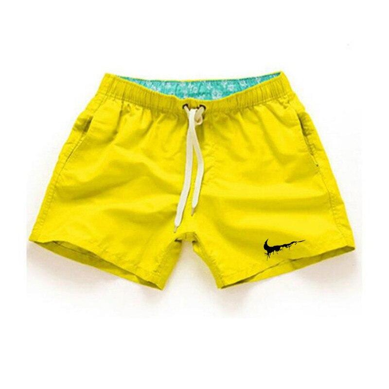 Summer Board Shorts Men Casual Solid Mid Beach Shorts Fashion Printed Waist Shorts Man Straight Drawstring Shorts Hot Sale