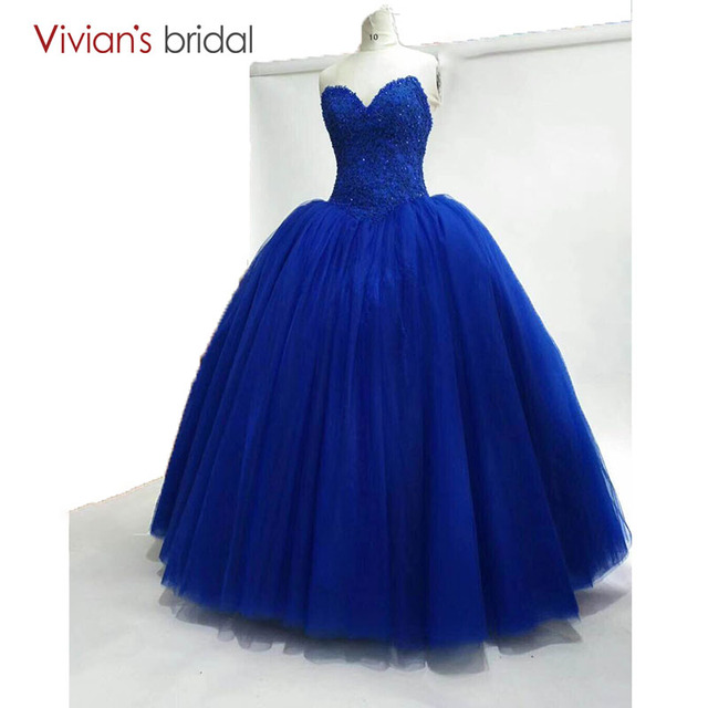 08ece1eea23 Sweetheart Royal Blue Evening Dresses Long Ball Gown Prom Party Gowns Real  Picture Plus Size Vestido De Noche 2018