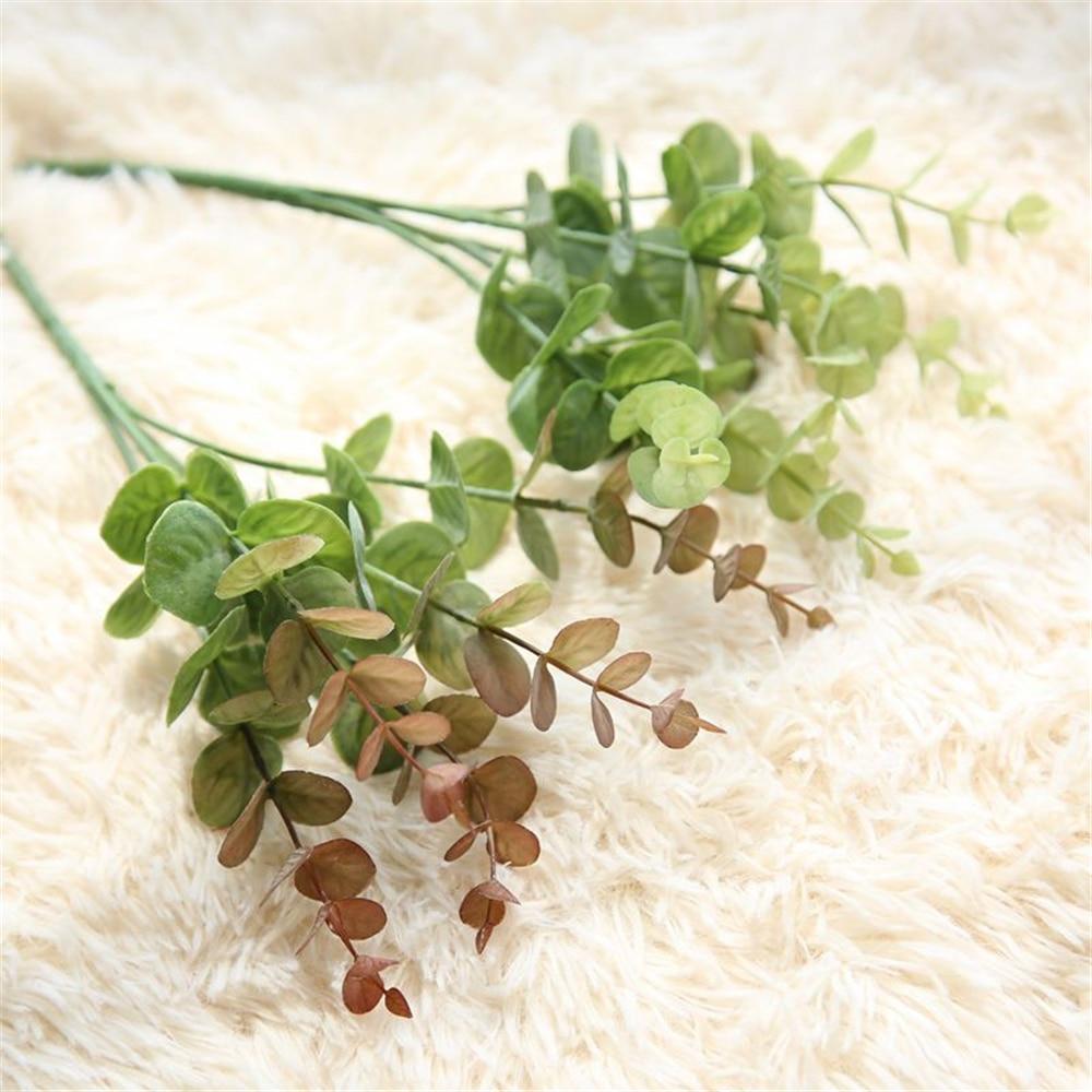 Eucalyptus trädgrenar Konstgjorda plastväxter Blomma arrangera DIY - Semester och fester - Foto 1