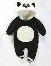 Новорожденный ребенок теплая зима верхняя одежда комбинезон мальчик девочка пальто малыша ползунки пуховик одежда 3 6 12 18 23 месяцев 0-2 лет