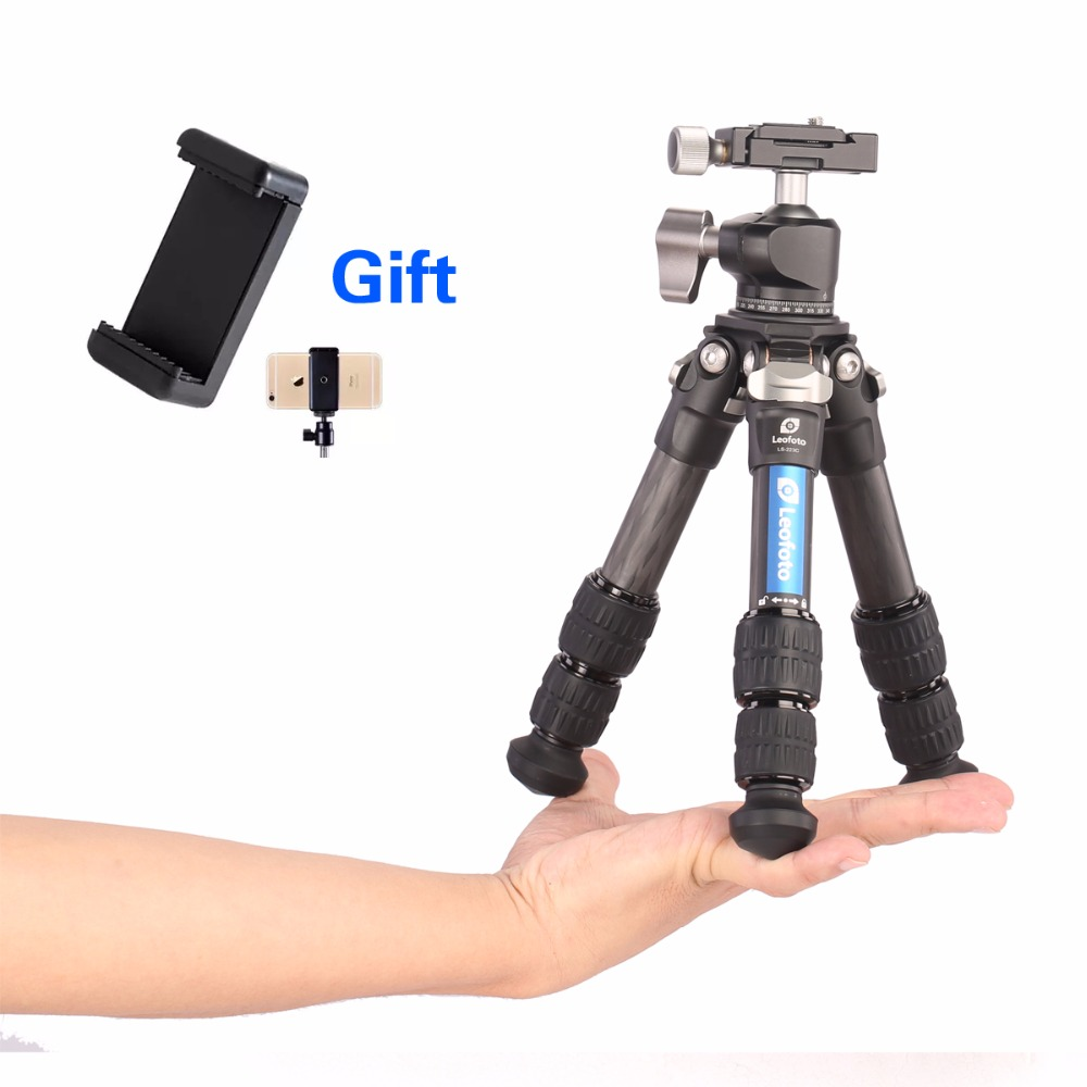 Professionnel Le Bureau de fiber de carbone Caméra Voyage Mini Portabl Trépied Manfrotto Stand pour iPhone Sony Canon Nikon Pentax DSLR DV