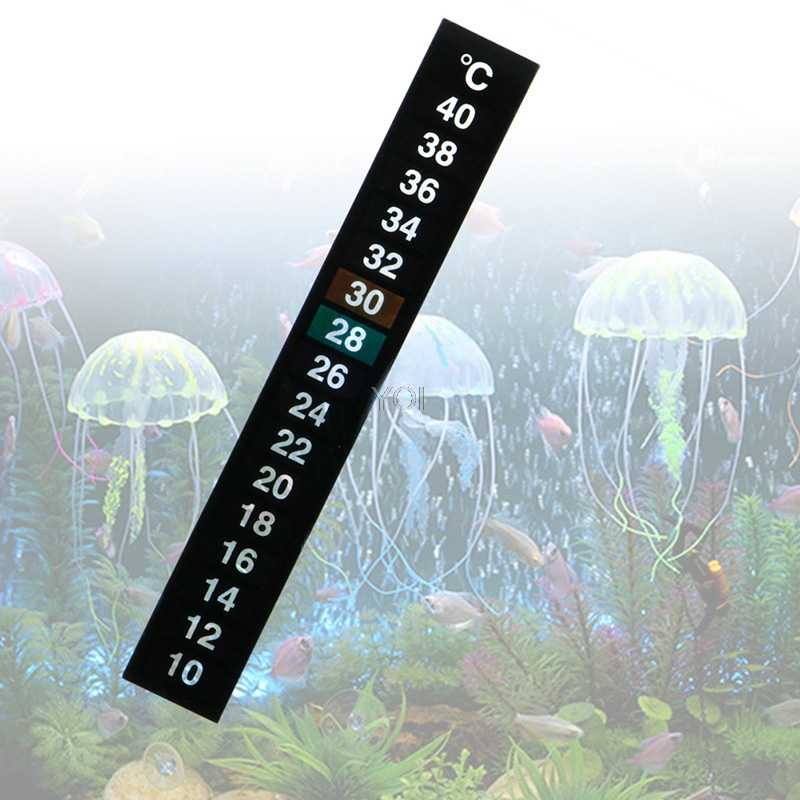 Aquarium Temperature Sticker Stick-On Aquarium Fish Tank Thermometer Temperature Sticker 1pc