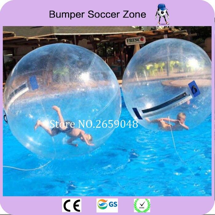 Livraison gratuite Top qualité 2 m boule de marche de l'eau boule d'eau géante Zorb Ballon Ballon gonflable boule de Zorb de l'eau pour la danse de jeu
